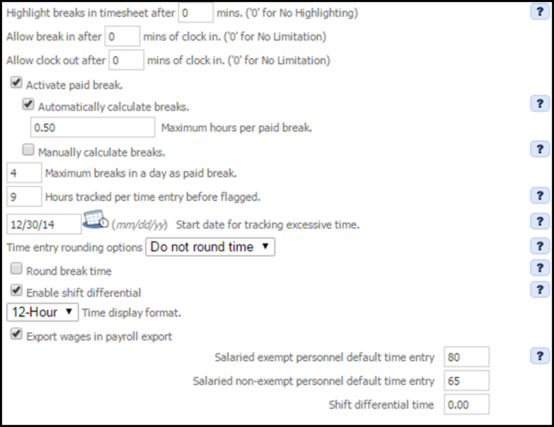 company settings timetracking settings hourdoc support center