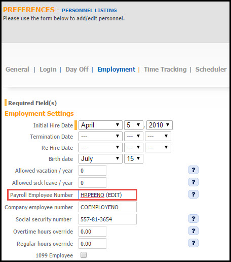 Adding And Editing Payroll Employee Numbers - Feature Update